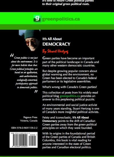 It's All About Democracy back cover