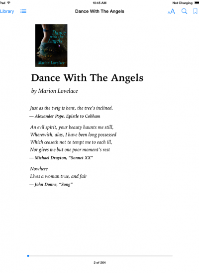 Dance With the Angels Title page
