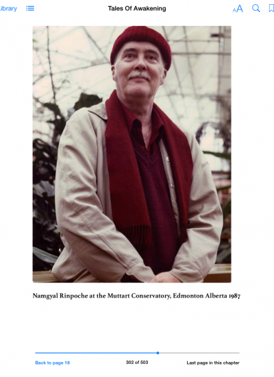 Namgyal Rinpoche at the Muttart Conservatory, Edmonton Alberta, Canada